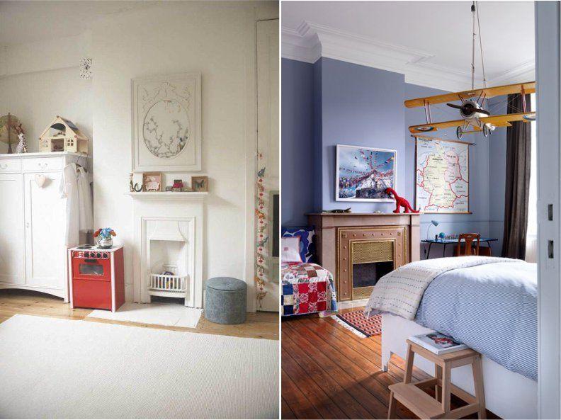 Unsur utama ruang tamu Inggris adalah perapian mengapa tidak mengaturnya di kamar bayi Inggris Desainnya bisa sangat dewasa dan cukup mainan
