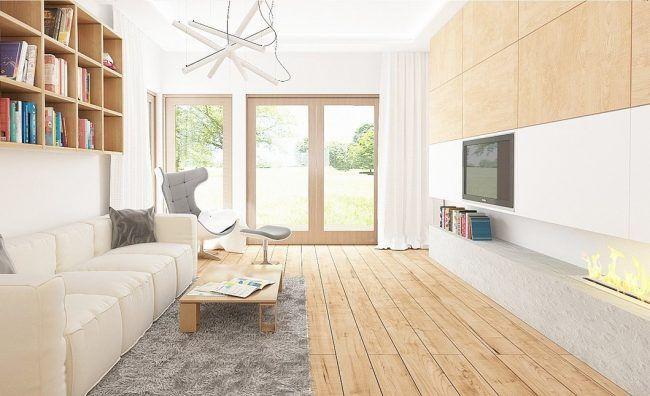Dapur studio sebuah satu tingkat yang diperbuat daripada blok buih dengan garaj untuk dua buah