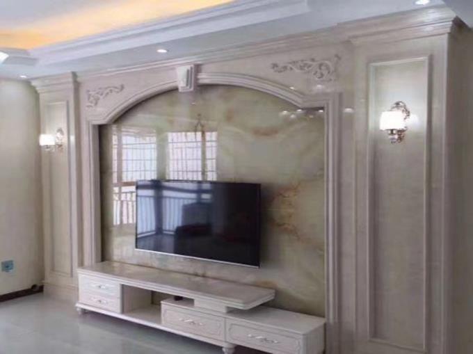 Wall TV Marble Asli Mudah Meningkatkan Dan Menunjukkan Kesan Hiasan Hiasan Dalaman