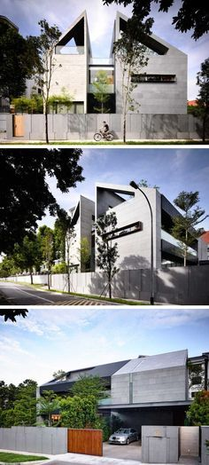 ONG&ONG have designed a contemporary home in Singapore Geladak Muka Bangunan Arkitek