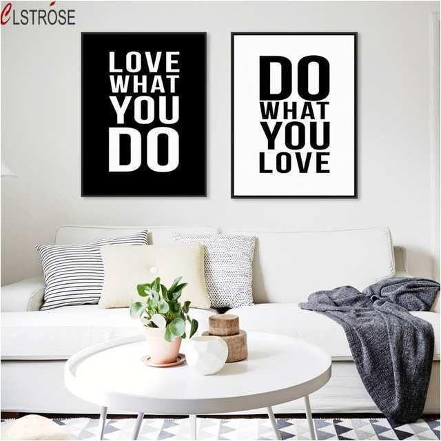 Tipografi Wall Lukisan Motivational CLSTROSE Minimalis Hitam Putih Print Penawaran Wall Art Poster Dekorasi Rumah Untuk