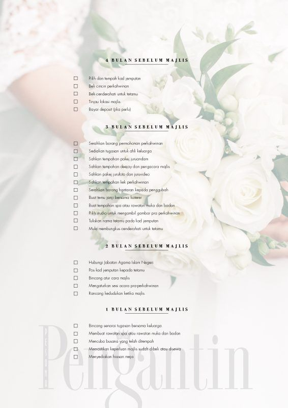 Download Wedding Checklist Anda Di Sini