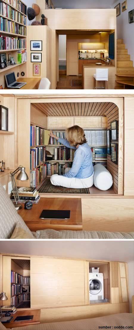 Walau atau apartemen Anda tidak memiliki banyak ruangan Anda tetap bisa memiliki cozy spot untuk membaca habis buku favorit Anda hanya perlu membeli