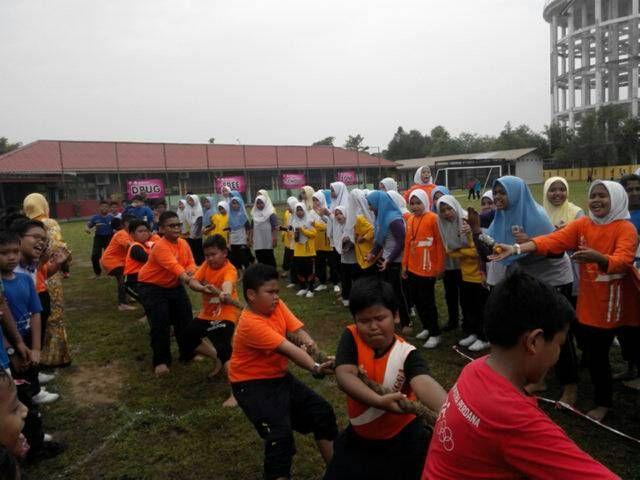 Cara Untuk Hiasan Rumah Sukan Merah Power Sekolah Kebangsaan Taman Putra Perdana Kejohanan Sukan Tahunan Kali