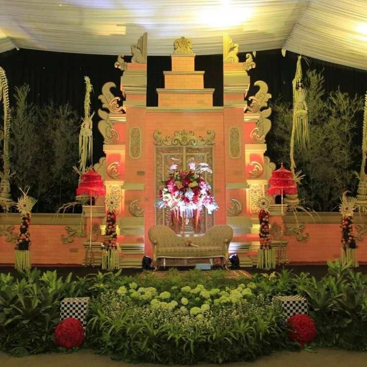 dekorasi pengantin bali sederhana
