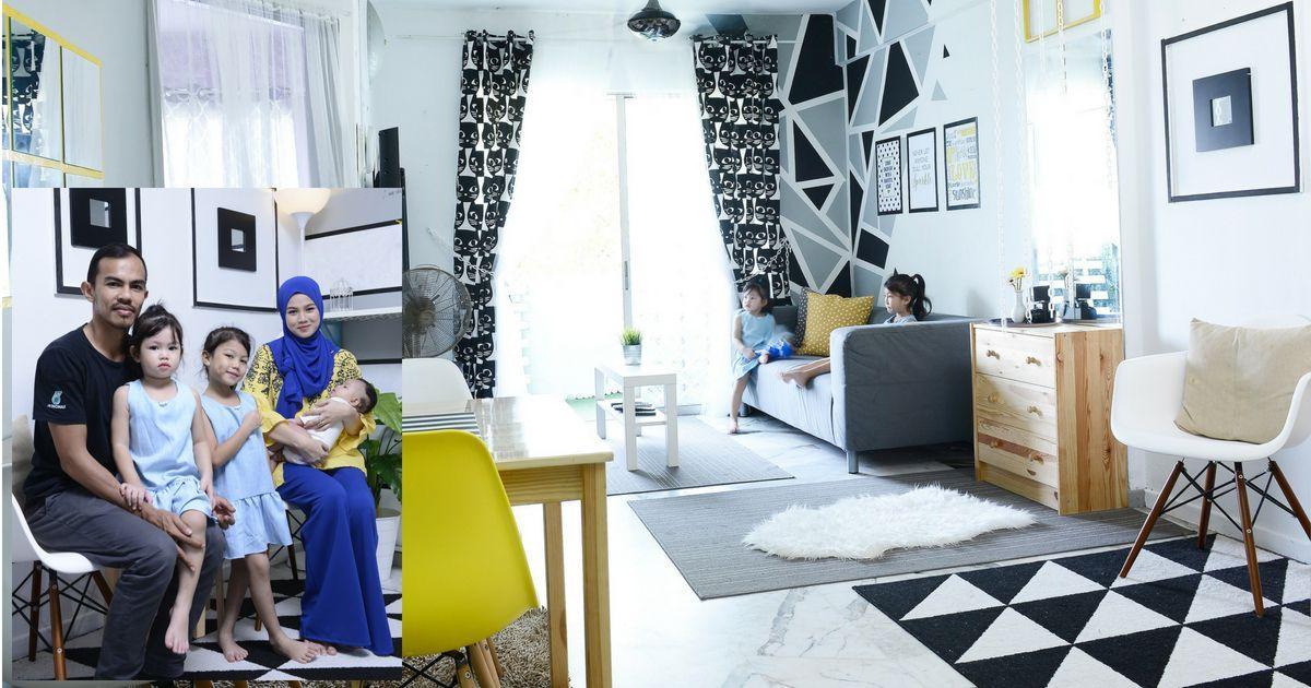Cara Untuk Dekorasi Hiasan Dalaman Terbaik Rumah Konsep Hitam Putih Meletup Rajin Diy Ibu Muda Ini