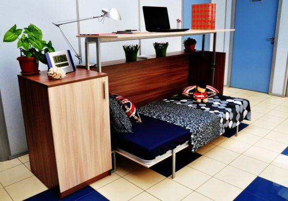 Model pereka berasingan katil almari juga kelihatan berfaedah di ruang pejabat bagi orang orang yang mempunyai jadual kerja yang tidak teratur