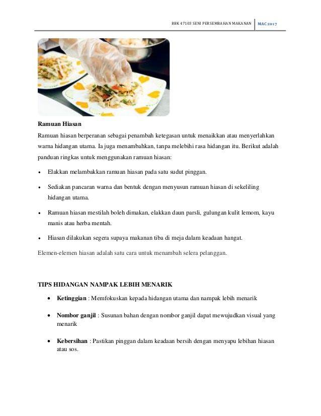 Cara Untuk Pengenalan Hiasan Dalaman Penting Bbk Bab 1 Pengenalan Gastronomi Seni Persembahan Makanan