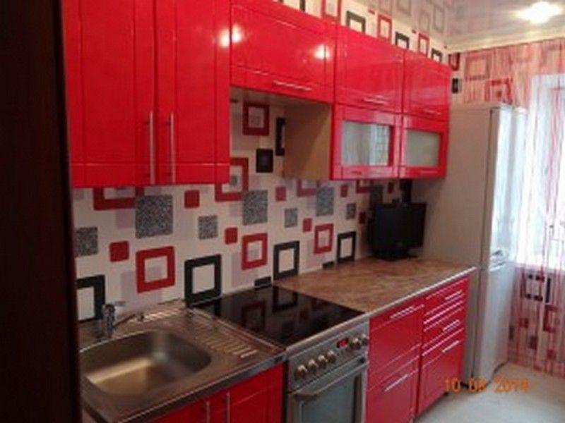 Reka bentuk dapur merah apron merah hiasan dinding set dapur foto