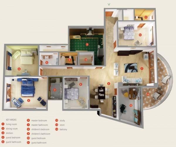 Pelan Rumah Banglo 1 Tingkat 3 Bilik Brad Erva Doce Info