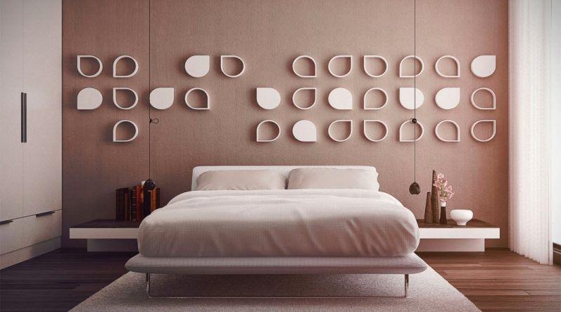 Idea untuk menghias dan menghias dinding di dalam bilik tidur 46 foto
