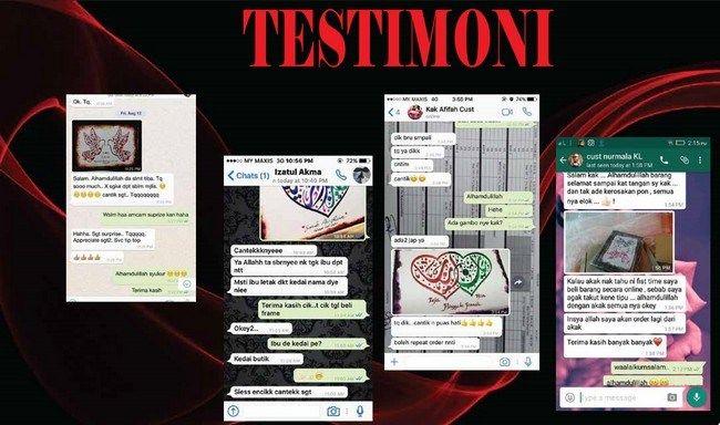 testimoni pembeli seni khat kaligrafi 1