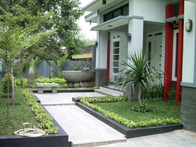 Desain Taman Minimalis Depan Rumah pojok