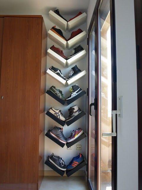 Tempat menyimpan kasut yang kecil Buat macam ni