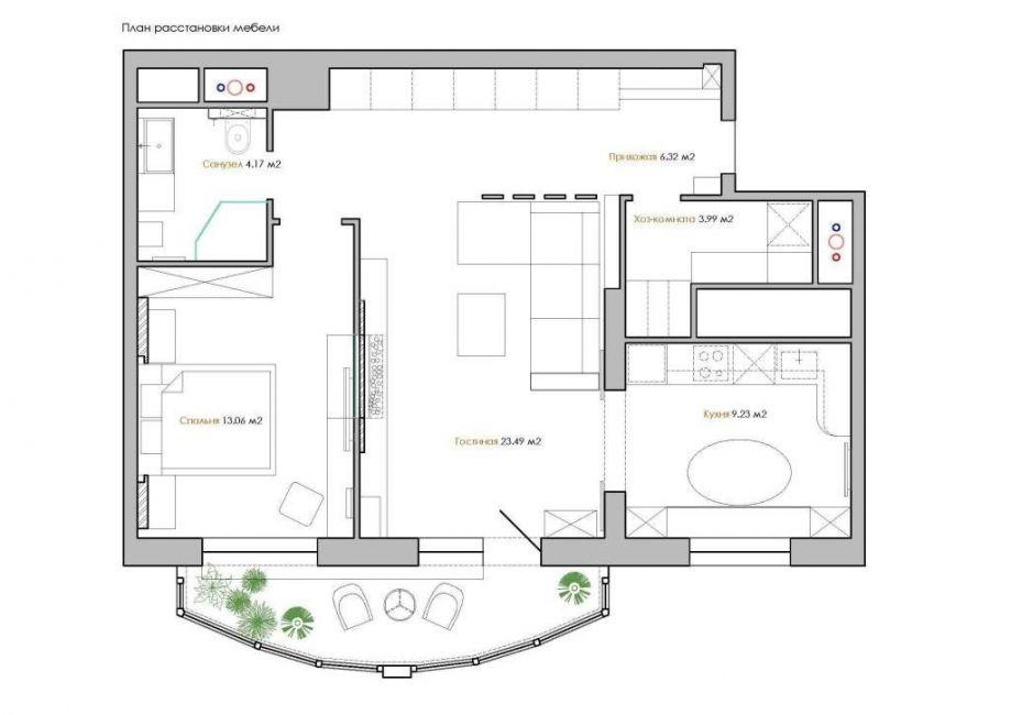 Perancangan yang lebih baik untuk sebuah apartmen 3 bilik di panel 160 Gambar