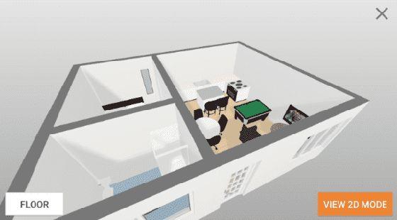 Rancang ubah suai anda menggunakan visual 2D dan 3D dan akses kepada lebih 15 juta contoh pelan melalui aplikasi Floorplanner