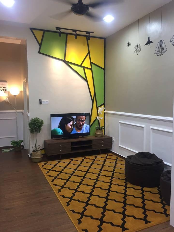 Cara Untuk Susun atur Menarik Rumah Biru Menarik Gambar Wanita Ini Buktikan Ruang Tamu Memanjang Boleh Nampak Luas