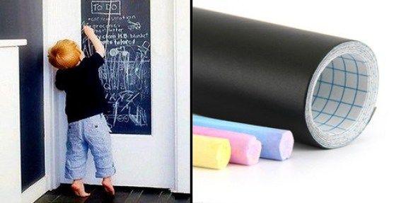 Nak beli papan hitam macam mahal dan memakan ruang Lekatkan kat dinding lagi cantik I pun ada buat kat