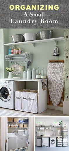 SUSUN ATUR BARANGAN RUMAH · Organizing a Small Laundry Room • Tips & Ideas by ThriftyMoM Mengemas Balang