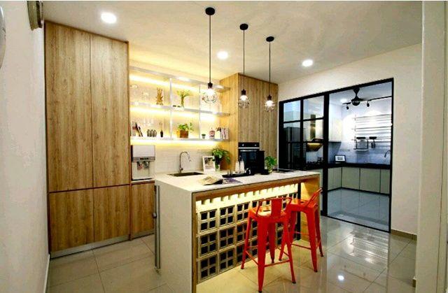 Reka Bentuk Dapur Rumah Di Malaysia 4 Amorphous Design