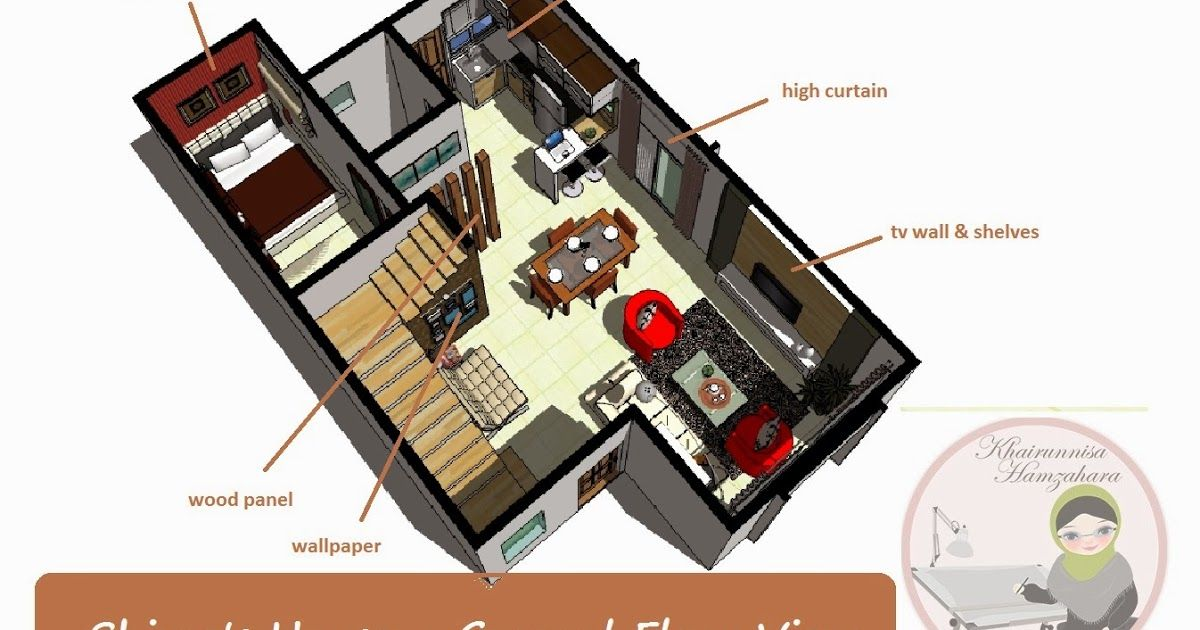 Panduan Untuk Kediaman Idaman Hiasan Dalaman Rumah Teres Pelan Terbuka Rumah Shima