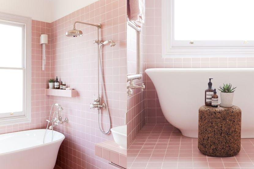 Limpahan warna merah jambu di segenap bilik mandi Kenapa tidak