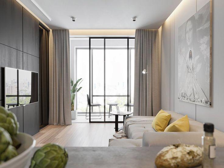 Ingat bahawa susun atur apartmen bergantung kepada penempatan semua zon Gunakan relung untuk memasang perabot dengan itu menjadikan bilik lebih teratur
