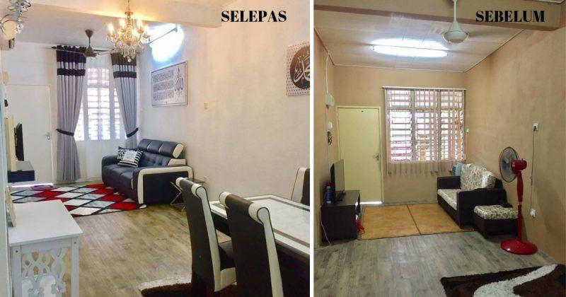 Cara Untuk Susun atur Ruang Tamu Rumah Flat Terbaik Tema Hitam Dan Putih Buat Teres Kos Rendah Ini Lebih Menarik Impiana