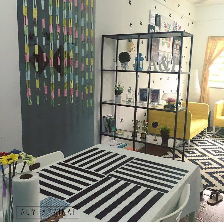 dekorasi menarik a ikea di flat dengan bajet minimadeko flat 13