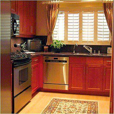 """Susunan ruang dapur berbentuk """"L"""""""