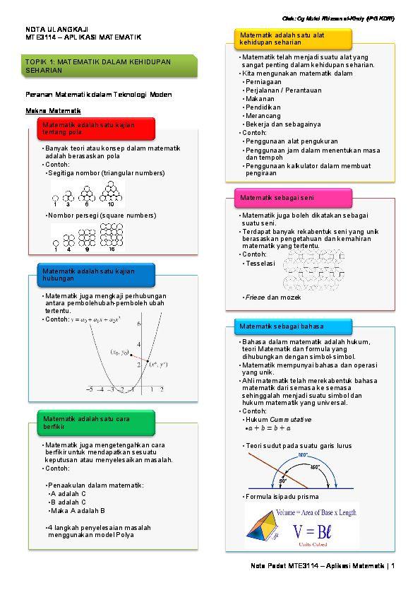 Cara Untuk Teori Hiasan Dalaman Bernilai Pdf Mte3114 – Aplikasi Matematik