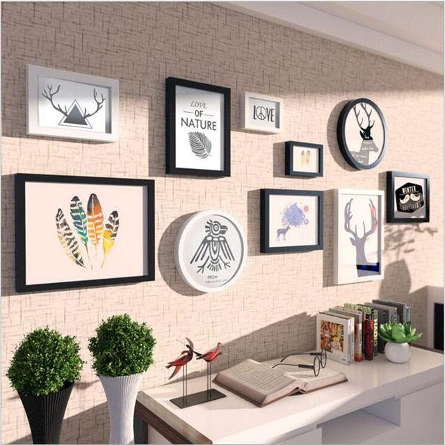 Fashionable Putaran Jane Eropa Dekoratif Dinding Bingkai Foto Gambar Album Hiasan Dinding Woody Kepala Rusa Dinding