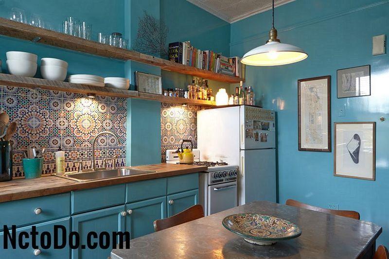 Kabinet Dapur Turquoise