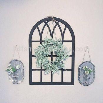 Eropa retro kreatif palsu jendela bentuk papan pesan papan hiasan dinding bar dinding dekorasi