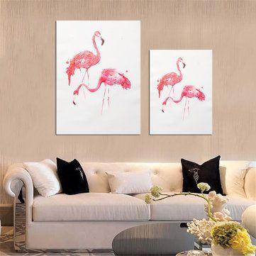 Dekorasi Hiasan Dalaman Terbaik Rumah Papan Bermanfaat Flamingo Flamingo Art Kanvas Lukisan Minyak Modern Print Hiasan