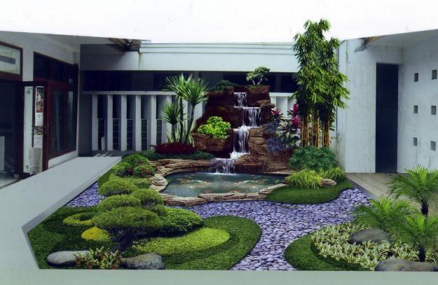 Reka bentuk hiasan taman dalam yang menarik