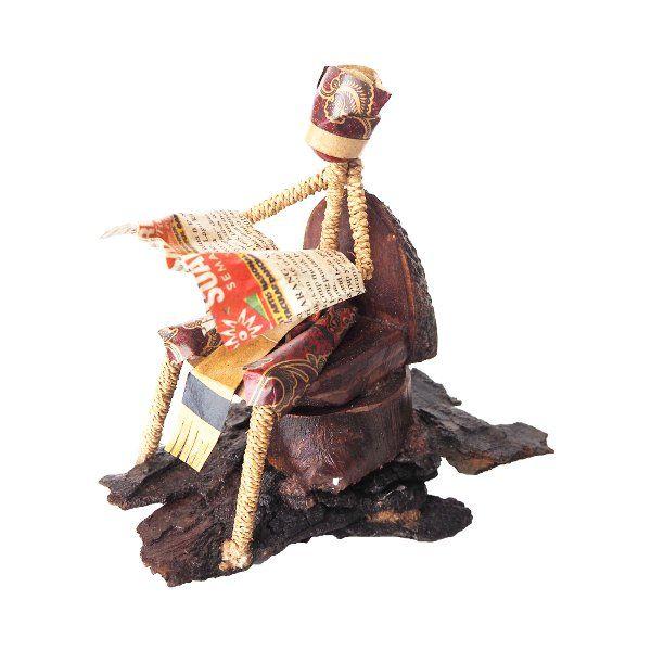 Jual Loko seni pajangan kayu daur ulang unik hiasan meja vintage patung di lapak Mendekor mendekor