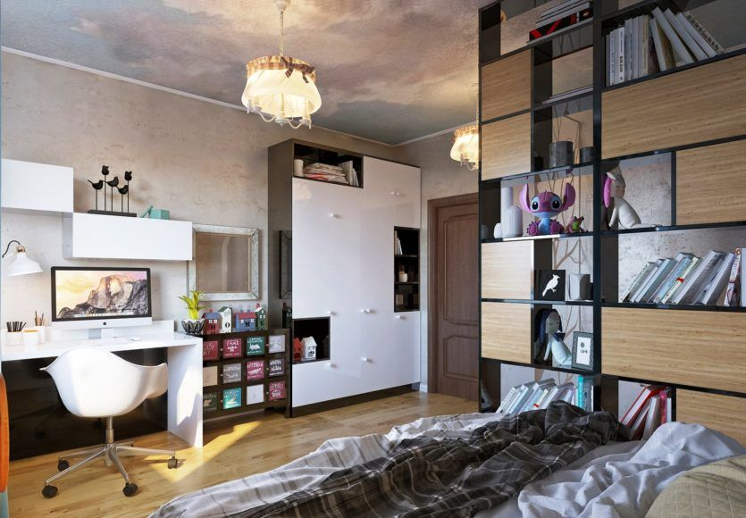Foto reka bentuk bilik tidur untuk seorang remaja