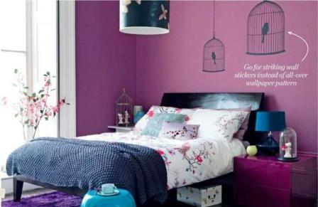 Susun atur Bilik Tidur Ikea Power Bedroom Warna Ungu
