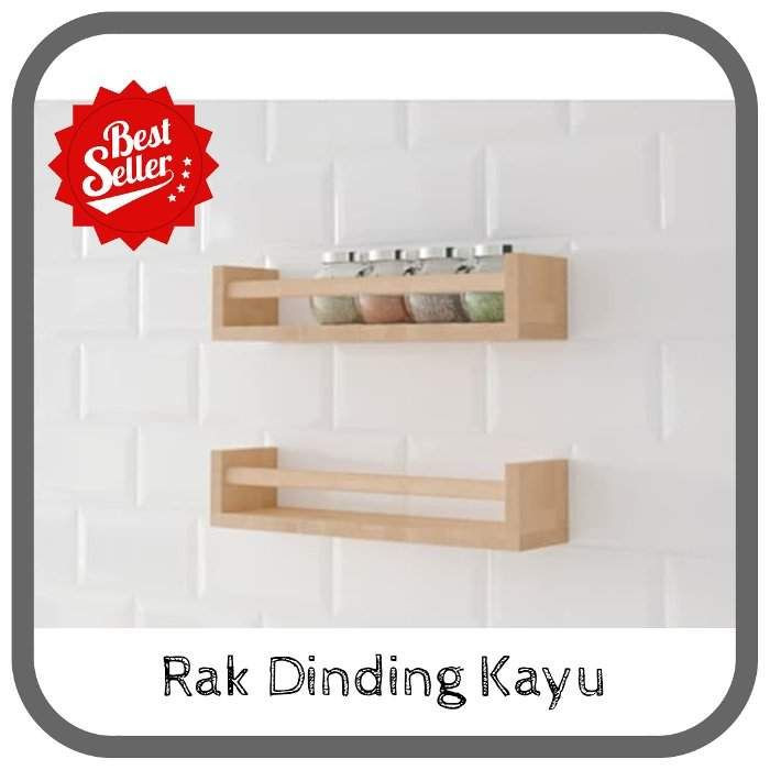 Cek Harga Rak Dinding Dapur Minimalis Serbaguna Dari Kayu Info Mau Murah