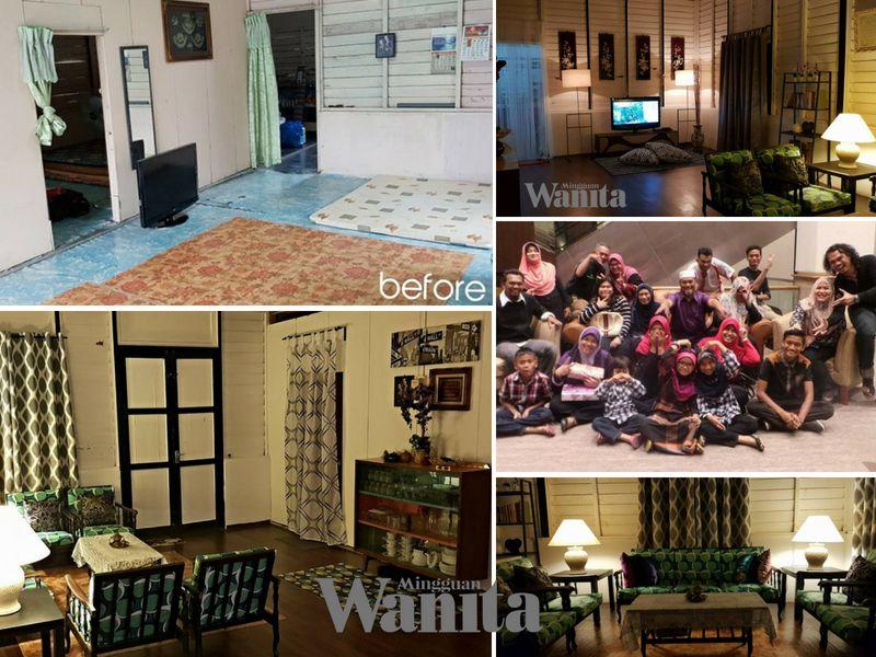 Susun atur Menarik Dapur Rumah Kampung Power Sepakat 6 Beradik Menantu Hadiahkan Mak Deko Raya Vintage Retro