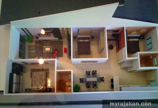 Susun atur Menarik Ruang Tamu Rumah Teres 1 Tingkat Bernilai Lanskap Banglo