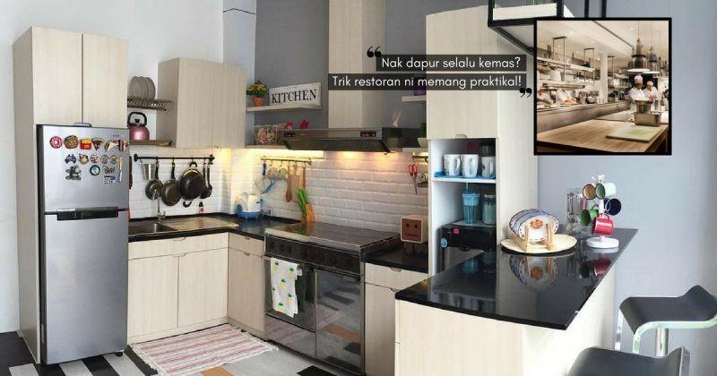 Susun atur Menarik Rumah Flat Kos Rendah Menarik Tiru 14 Trik Restoran atur Barang Dapur Ini Yang Boleh Kita