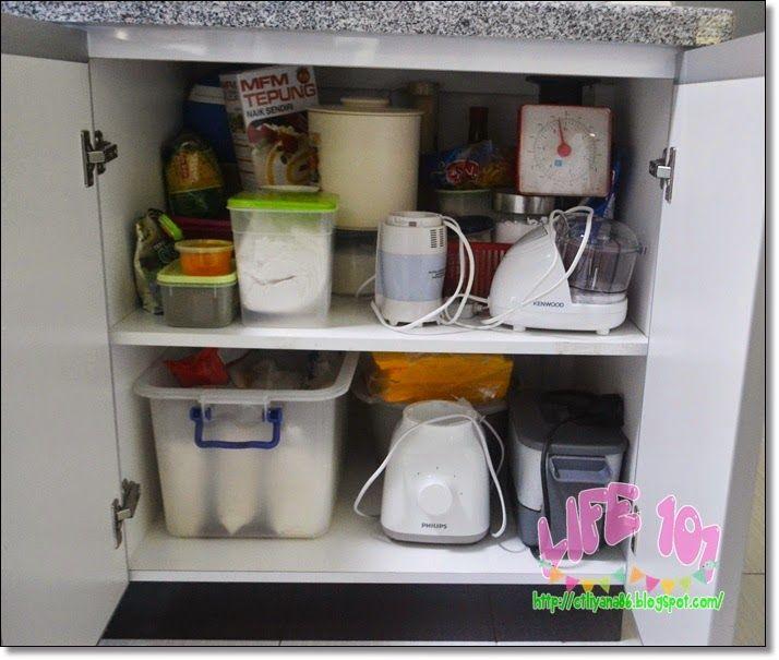 Susun atur Menarik Rumah Murah Meletup Dapur Susun atur Dalam Kitchen Cabinet 1